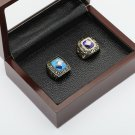 2PCS 1969 1986 New York Mets MLB Championship rings 10-13 size with wooden case