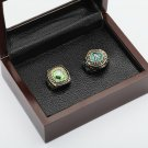 2PCS 1974 1989 OAKLAND ATHLETICS World Series Championship Ring Size 10-13 With a nice wooden case