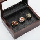 3PCS 1975 1976 1990 CINCINNATI REDS World Series Championship Ring Size 10-13 With wooden case