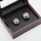 2PCS 2004 2007 BOSTON RED SOX World Series Championship Ring Size 10-13 With wooden case