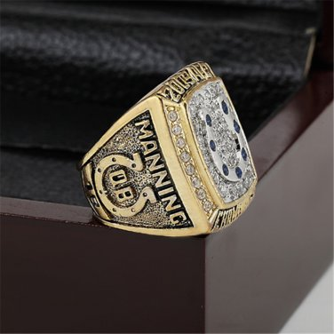 2009 Indianapolis Colts AFC Football Championship Ring Size 10-13 With a nice wooden case