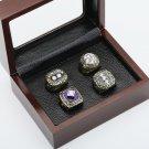 4 PCS 1980 1981 1982 1983 New York Islanders Hockey Championship Ring Size 10-13 +wooden case
