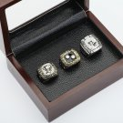 3pcs 1991 1992 2009 Pittsburgh Penguins Hockey Championship Ring Size 10-13 + wooden case