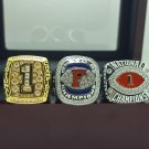 One Set 3 PCS 2008 Florida Gators BCS SEC and National championship ring 8-14 size
