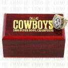 Team Logo wooden case 1993 Dallas Cowboys super bowl Ring 10-13 Size to choose