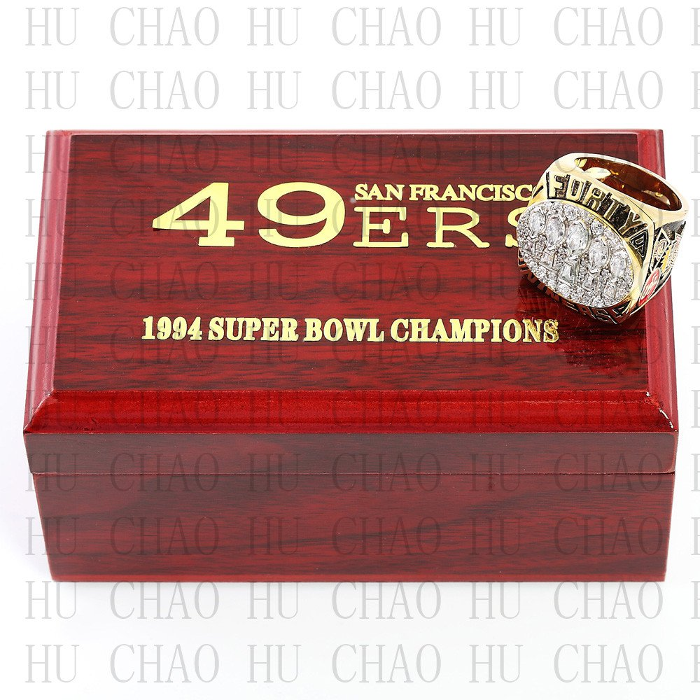 Team Logo wooden case  1994 San Francisco 49ers super bowl Ring 10-13 Size to choose
