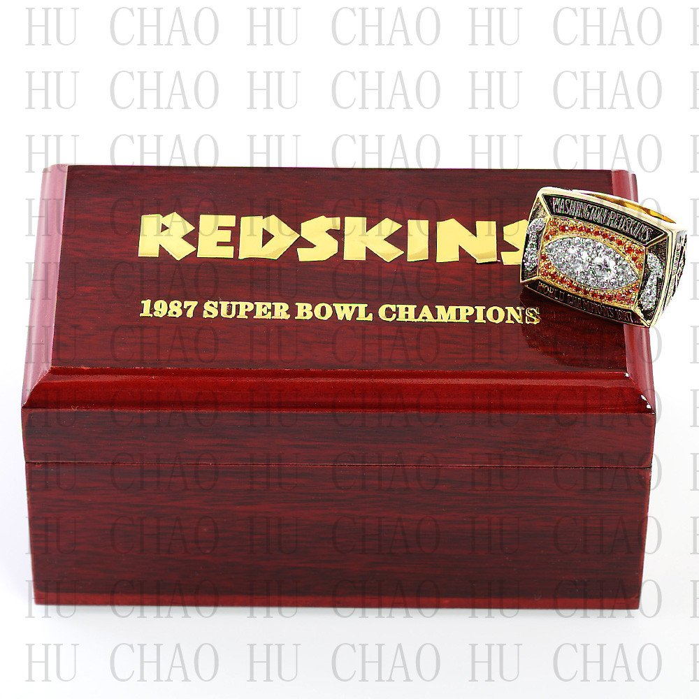 Team Logo wooden case 1987 Washington Redskins super bowl Ring 10-13 Size to choose
