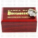 Team Logo wooden case 2002 Tampa Bay Bucaneers super bowl Ring 10-13 Size to choose