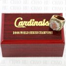 2006 St. Louis Cardinals MLB Championship Ring 10-13 Size with Logo wooden box