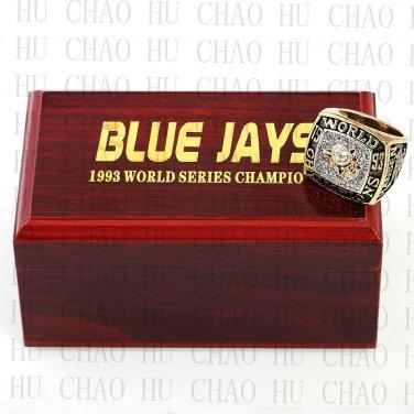 1993 TORONTO BLUE JAYS MLB Championship Ring 10-13 Size with Logo wooden box