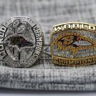 One Set 2 PCS 2000 2012 Baltimore Ravens super bowl Championship Ring 8-14 size