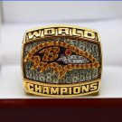 2000 Baltimore Ravens super bowl Championship Ring 8-14 Size With wooden box
