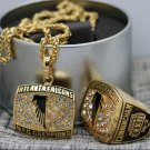 One Set 1998 Atlanta Falcons NFC Football Championship Necklace and ring copper