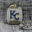 2015 Kasas City Royals MLB championship Necklace with a steel chain 22 Inches