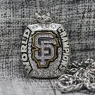 2014 San Francisco Giants MLB championship Necklace with a steel chain 22 Inches