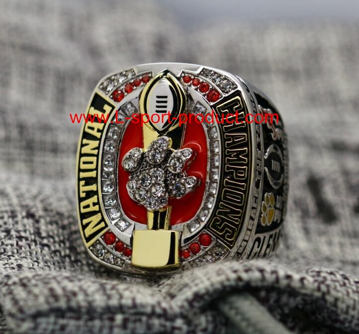 2016 2017 Clemson tigers NCAA championship ring 8S for WATSON COPPER VERSION