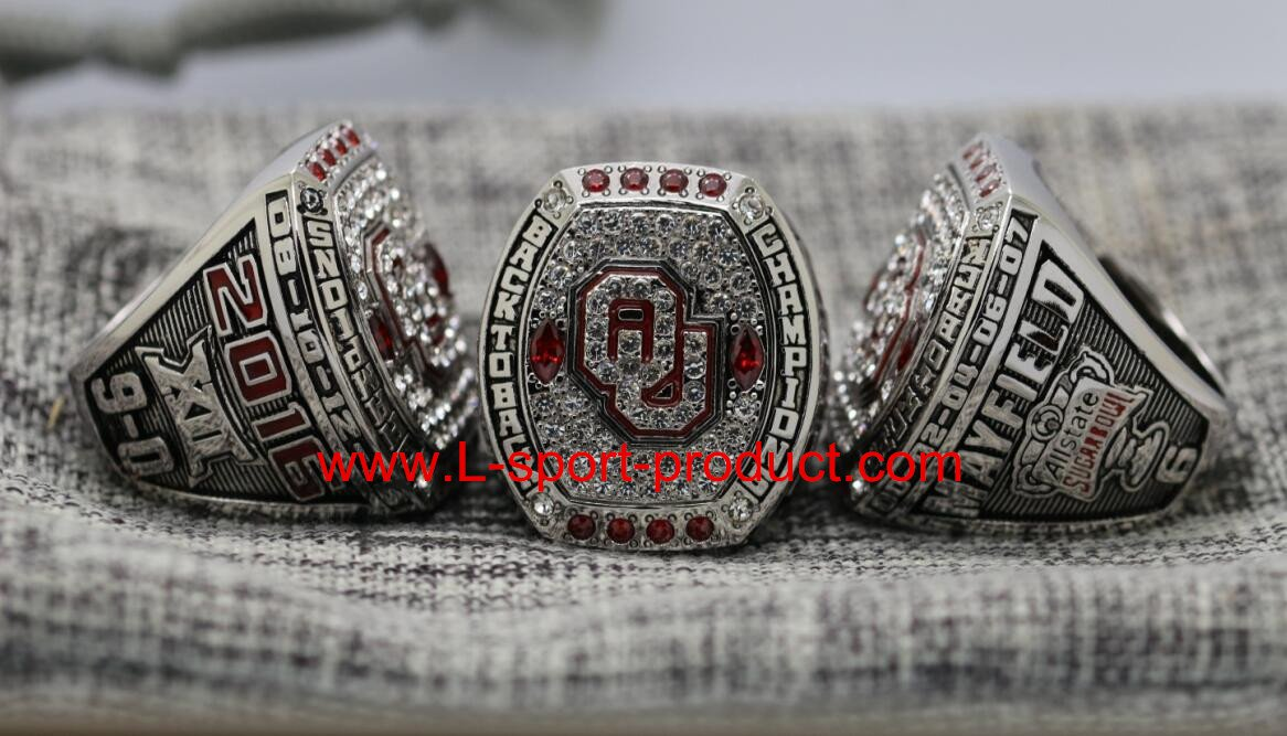 2016 Oklahama sooners Big 12 NCAA National Championship Ring 14S