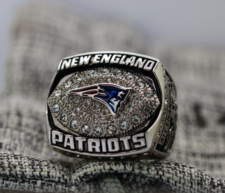 2007 New England Patriots NFC super bowl championship ring 8-14S in stock Tom Brady