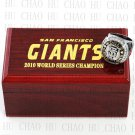 2010 San Francisco Giants MLB Championship Ring 10-13 Size with Logo wooden box