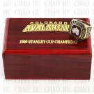 1996 COLORADO AVALANCHE NHL Hockey Championship Ring 10-13 Size with Logo wooden box