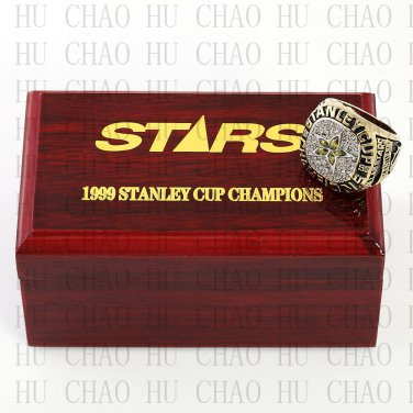 1999 Dallas Stars NHL Hockey Championship Ring 10-13 Size with Logo wooden box