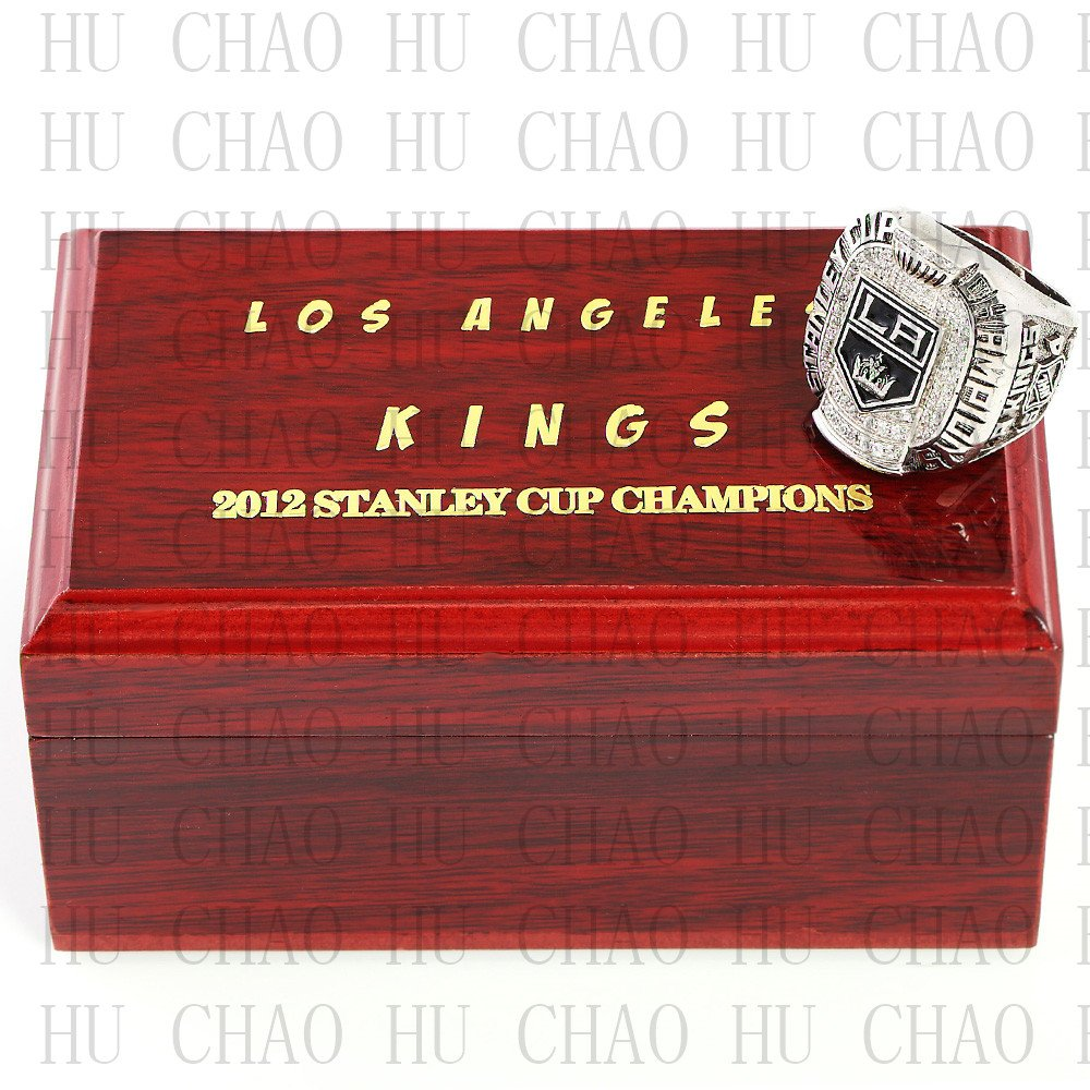 2012 Los Angeles La Kings NHL Hockey Championship Ring 10-13 Size with Logo wooden box