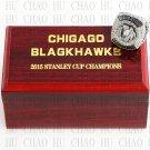 2015 Chicago Blackhawks NHL Hockey Championship Ring 10-13 Size with Logo wooden box