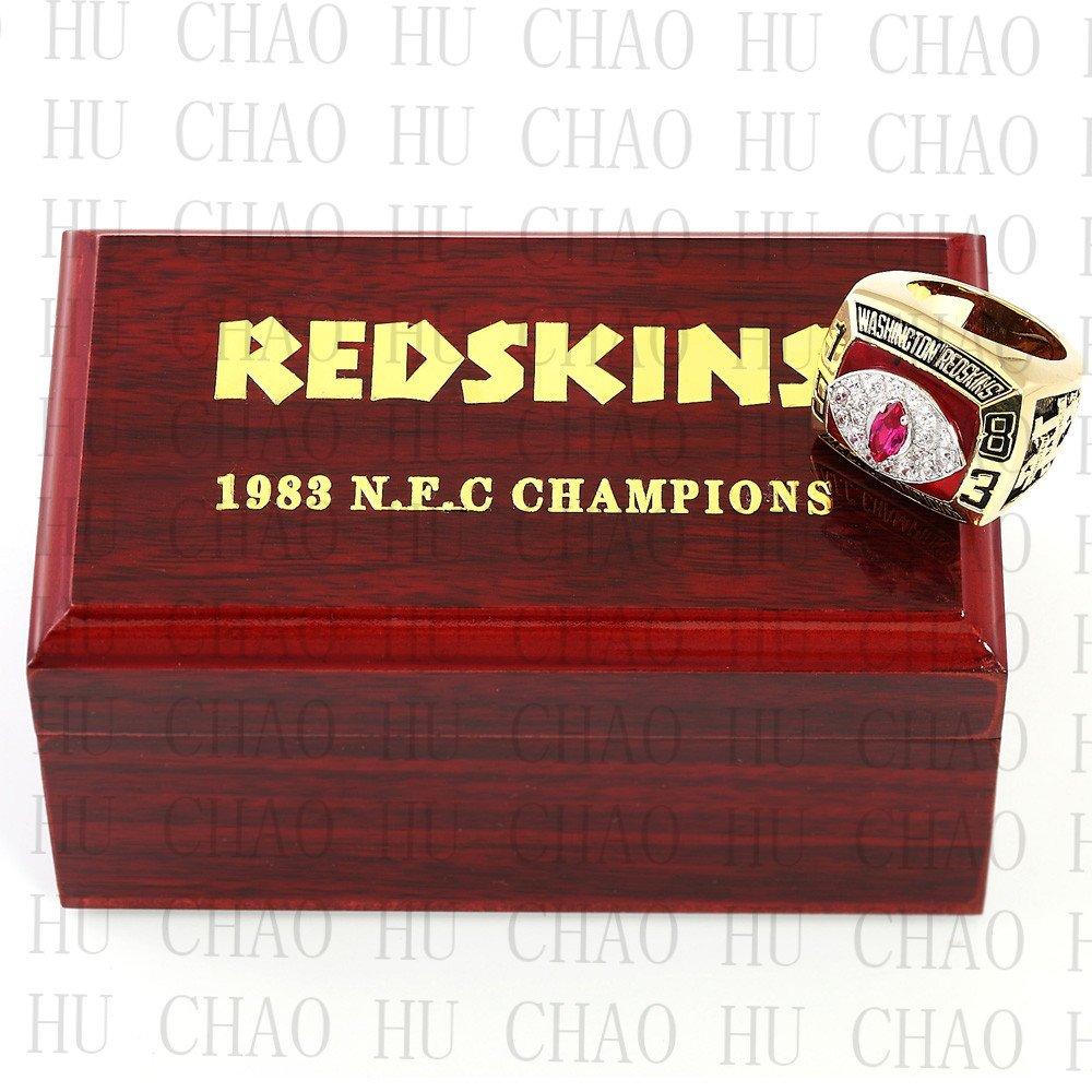 1983 Washington Redskins NFC Football world Championship Ring 10-13 Size with Logo wooden box