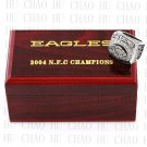 2004 PHILADELPHIA EAGLES NFC Football world Championship Ring 10-13 Size with Logo wooden box