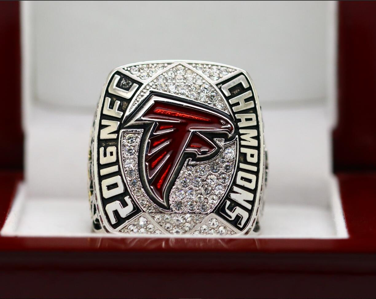 2017 Atlanta Falcons NFC Football Championship ring copper version 8-14 size