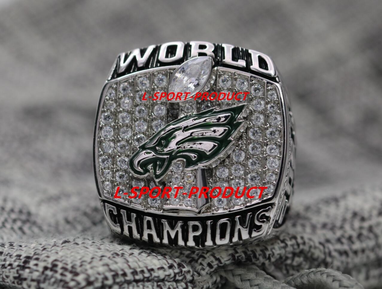 2018 Philadelphia Eagles Super Bowl Lii Chionship Ring 8 14 Size Copper Version