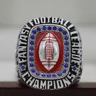 2017 FANTASY FOOTBALL FFL Championship Ring 8-14S copper RED SILVER AND BLUE