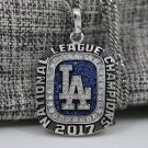OFFICAL 2017 2018 Los Angeles Dodgers NL world Championship necklace +22 inch chain