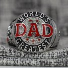 Brand New FATHER's DAY Ring Customized Name World Greatest Dad ring size 10-14
