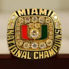 1991 Miami Hurricanes NCAA National Championship Ring 8-14S for  Rock Johnson