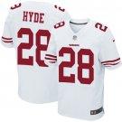 Carlos Hyde #28 SAN FRANCISCO 49ERS White Limited Men's jersey M L XL XXL XXXL