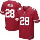 Carlos Hyde #28 SAN FRANCISCO 49ERS Red Limited Men's jersey M L XL XXL XXXL