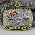 1997 Denver Broncos super bowl championship necklace with 22 inch chain