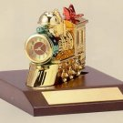 Bulova Holiday Train II Miniature Clock - B0423