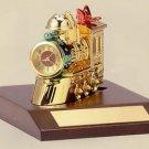 Bulova Holiday Train II Miniature Clock - B0423