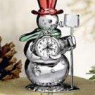Bulova Miniature Clock Snowman B0426