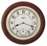 Bulova WILLIAM Clock with solid oak case C4596