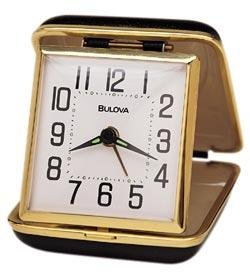 Bulova B6112 Reliable II Travel Clock