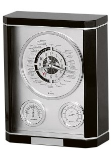 Bulova Monarch Table Clock with Weather Instruments B7593