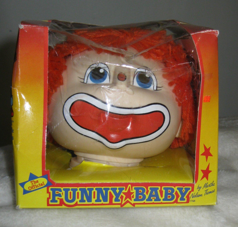 1984 Funny Baby Clown Head New In Box