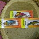 Fishing lures, lot of 3 lures for only $6.99 -- free shipping