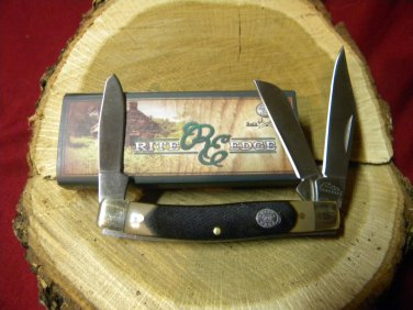 Rite Edge, 3 blade stockman knife with sawcut delrin handles