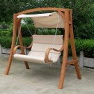 New 2 Person Swing Hammock Chair  Love Bench w/ Canopy