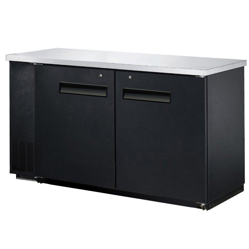 "60"" Back Bar Beer Bottle Cooler Refrigerator w/ Stainless Top UBB-24-60F"