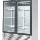 MCF8707  Two Door Glass Front Refrigerator w/ Stainless Steel Trim
